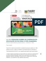 IPO _ Pesquisa sobre os caminhos da educação do RS para o pós-pandemia_