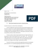 ACLU Letter Re John Clinton's Jesus Judging