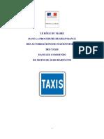 Plaquette taxi