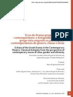 Ecos Do Drama Grego No Teatro Contemporâneo