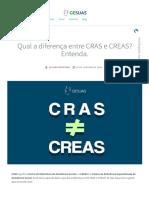 Qual a diferença entre CRAS e CREAS