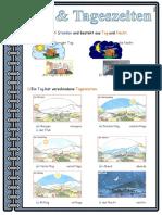 Tag Tageszeiten Lernposter Arbeitsblatter Bildbeschreibungen Bildworterbucher 24697
