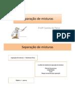 SEMI 1 - FRENTE - E - AULA -2- Processos físicos de separação de mistura