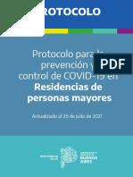 Protocolo para residencias de personas mayores