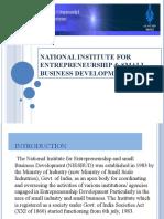 NATIONAL INSTITUTE FOR ENTERPRENEURSHIP & SMALL BUSINESS DEVELOPMENT1