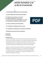 Tema 13 - Los límites del conocimiento humano y el problema de lo irracional. - Oposinet
