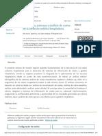 Estructura, sistemas y análisis de costos de la atención médica hospitalaria