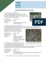 Topographic Field Survey Brochure Feb 2011