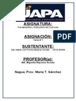 Fundamentos Del Curriculo San Martín de Porres Medina Acosta- Tarea 7