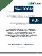 4.2 Propuesta de La Hipótesis, Variables (Metod Cuanti) o Categorís de Analisis o Supuestos Teóricos (Metod Cualit) _SALAS CARLOS