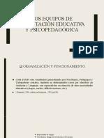 LOS EQUIPOS DE Orientación Educativa y Psicopedagógica
