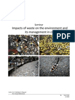 Impacts of waste on the environment and its management in cities