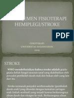 manajemen fisioterapi pada penderita Stroke