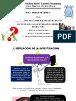 JUSTIFICACION DE LA INVESTIGACIÓN
