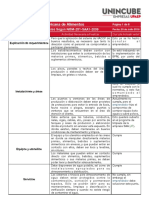 Actividades Aplicables NOM-251-SSA1