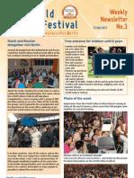 World Culture Festival, Berlin, Germany, Newsletter 03
