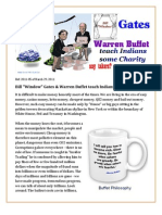 "Bill ""Window"" Gates & Warren Buffet teach Indians some charity"