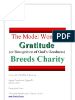 The Model Woman - Gratitude Breeds Charity