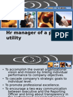 Hr manager of a public utility