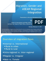 Migration, Gender and ASEAN Regional Integration