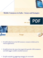 Mobile Commerce in India Issues and Strategies - Dr.sumesh Raizada From JIMS Rohini Sector 5
