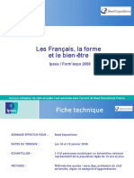 IPSOS - Les Français, La Forme Et Le Bien Être