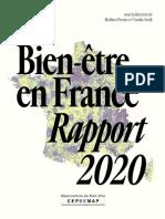 Le Bien Etre en France – Rapport 2020