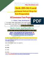 Head-Clerk (BS-16)Local Govt Department Solved Mcqs for Test Preparation
