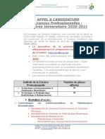 APPEL-A-CANDIDATURE-LP-TIMB-TRRR-Rentrée-Universitaire-2020_2021