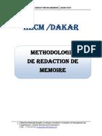 Méthodologie de  Rédaction de Mémoire