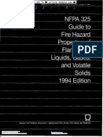 1994 - NFPA 325 - Liquids, Gases and Volatile Chemical
