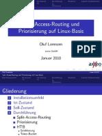 Split-Access-Routing und Priorisierung auf Linux-Basis [ Präsentation ]