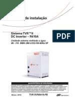 Manual de instalação_Sistema TVR™ II_Inversor DC - R410A_Unidade externa resfriada a água 86 –115 MBH 380-415V50-60Hz3F (TVR-SVN047A-PB)