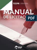 MANUAL DE LICITAÇÕES - TCR-PR