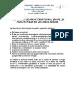 ATENCION VICTIMAS DE VIOLENCIA SEXUAL