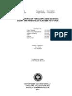 Laporan 3 - Pengaruh Puasa terhadapa Kand Glukosa dan Glikogen (Pendahuluan)