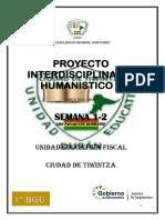 1° PROYECTO INTERDISCIPLINAR HUMANISTICO 2