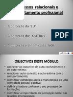 psic - modulo 4 - Processos  relacionais e comportamento profissional