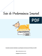 Teste de Predominância Sensorial