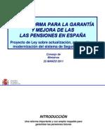 Sintesis de la Reforma de las Pensiones 2011
