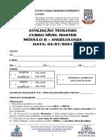 04-MASTER 2021 - MÓD II - 05 - AVALIAÇÃO ANGELOLOGIA - 04072021