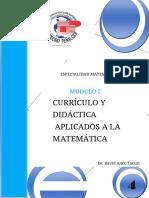 Modulo Curriculo y Didactica Aplicado Matematica