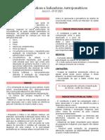 Aula 3 - Variáveis, Indicadores e Indices Antropometricos