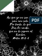 Versículos sobre el matrimonio para imprimir