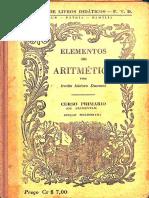 ELEMENTOS DE ARITMÉTICA, Irmãos Isidoro Dumont, FTD, s.d.