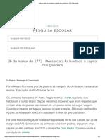 Nessa Data Foi Fundada a Capital Dos Gaúchos - UOL Educação
