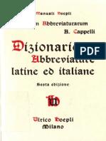 [Manuali Hoepli] Adriano Cappelli - Lexicon Abbreviaturarum. Dizionario Di Abbreviature Latine Ed Italiane (1999, Ulrico Hoepli)