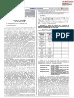 Decreto Supremo N°144-2021-PCM