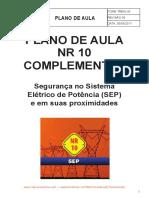 Plano de aula curso NR10 - SEP