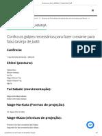 4 Exame para faixa LARANJA - Projeto Budô Judô